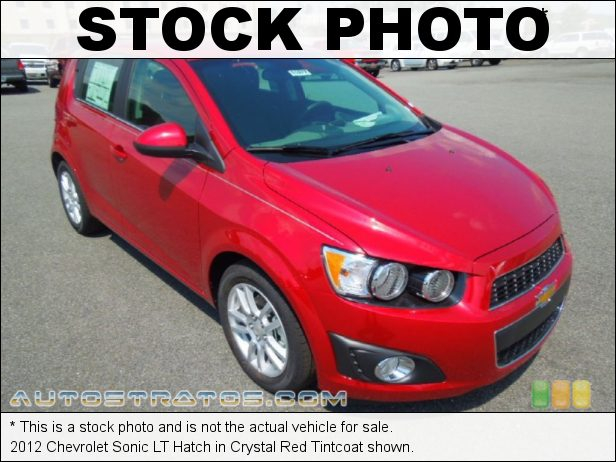 Stock photo for this 2012 Chevrolet Sonic LT Hatch 1.8 Liter DOHC 16-Valve VVT 4 Cylinder 6 Speed Automatic