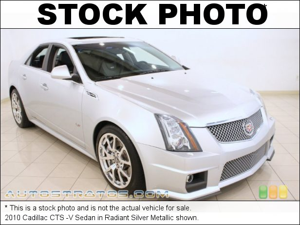Stock photo for this 2010 Cadillac CTS -V Sedan 6.2 Liter Supercharged OHV 16-Valve LSA V8 6 Speed Automatic