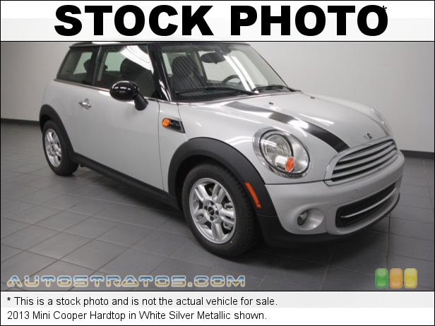 Stock photo for this 2013 Mini Cooper Hardtop 1.6 Liter DOHC 16-Valve VVT 4 Cylinder 6 Speed Steptronic Automatic