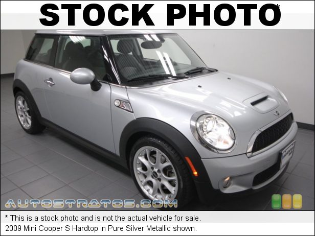 Stock photo for this 2009 Mini Cooper S Hardtop 1.6 Liter Turbocharged DOHC 16-Valve 4 Cylinder 6 Speed Steptronic Automatic