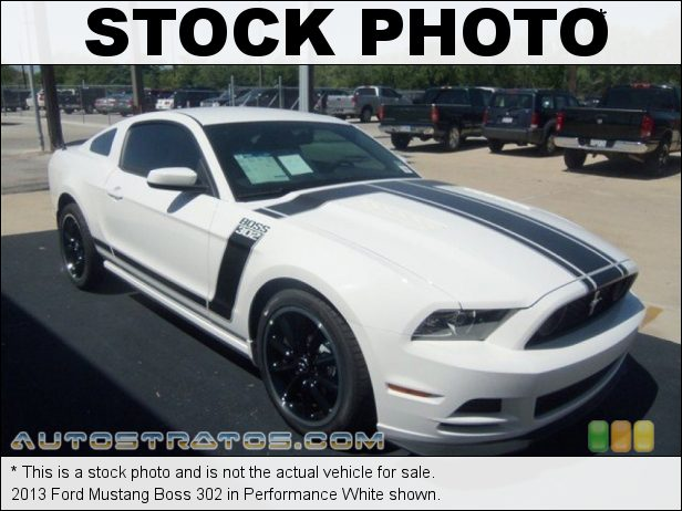 Stock photo for this 2013 Ford Mustang Boss 302 5.0 Liter 302 Hi-Po DOHC 32-Valve Ti-VCT V8 6 Speed Manual