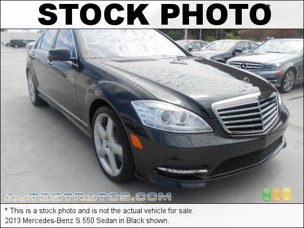 Stock photo for this 2013 Mercedes-Benz S 550 Sedan 4.6 Liter DI Twin-Turbocharged DOHC 32-Valve VVT V8 7 Speed Automatic