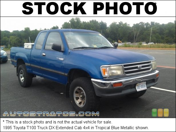 Stock photo for this 1995 Toyota T100 Truck SR5 Extended Cab 3.4 Liter DOHC 24-Valve V6 4 Speed Automatic