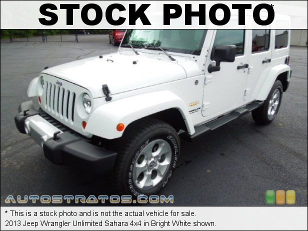 Stock photo for this 2013 Jeep Wrangler Unlimited Sahara 4x4 3.6 Liter DOHC 24-Valve VVT Pentastar V6 5 Speed Automatic