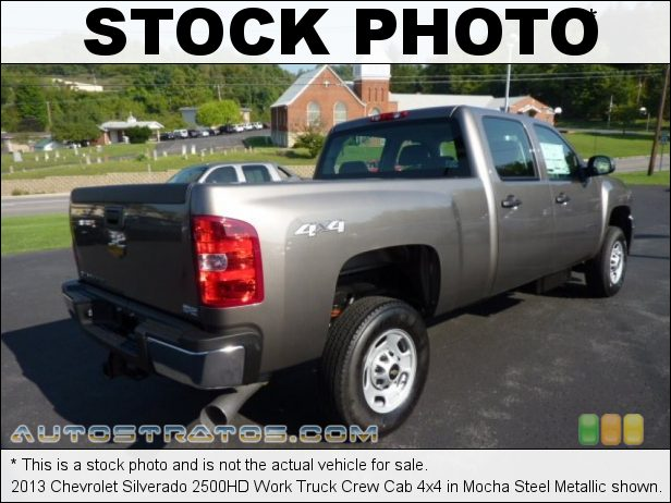 Stock photo for this 2013 Chevrolet Silverado 2500HD Work Truck Crew Cab 4x4 6.6 Liter OHV 32-Valve Duramax Turbo-Diesel V8 6 Speed Allison Automatic