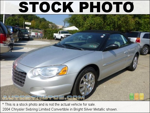 Stock photo for this 2004 Chrysler Sebring Limited Convertible 2.7 Liter DOHC 24-Valve V6 4 Speed Automatic