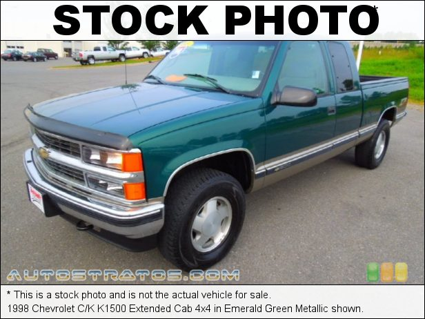 Stock photo for this 1998 Chevrolet C/K K1500 Extended Cab 4x4 5.7 Liter OHV 16-Valve V8 4 Speed Automatic
