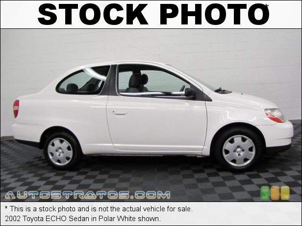 Stock photo for this 2002 Toyota ECHO Coupe 1.5 Liter DOHC 16-Valve VVT-i 4 Cylinder 5 Speed Manual