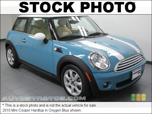 Stock photo for this 2010 Mini Cooper Hardtop 1.6 Liter DOHC 16-Valve VVT 4 Cylinder 6 Speed Steptronic Automatic