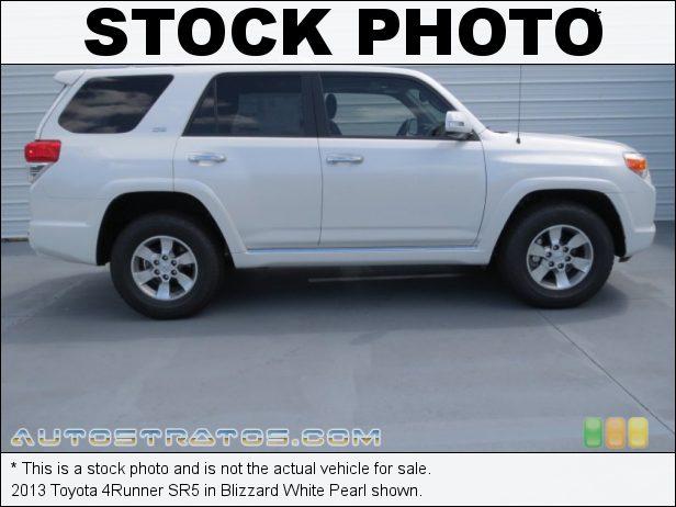 Stock photo for this 2013 Toyota 4Runner SR5 4.0 Liter DOHC 24-Valve Dual VVT-i V6 5 Speed ECT-i Automatic