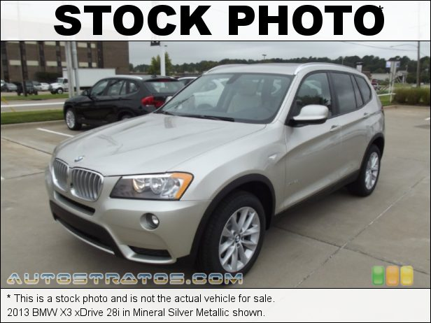 Stock photo for this 2013 BMW X3 xDrive 28i 2.0 Liter DI TwinPower-Turbocharged DOHC 16-Valve VVT 4 Cylinder 8 Speed Steptronic Automatic
