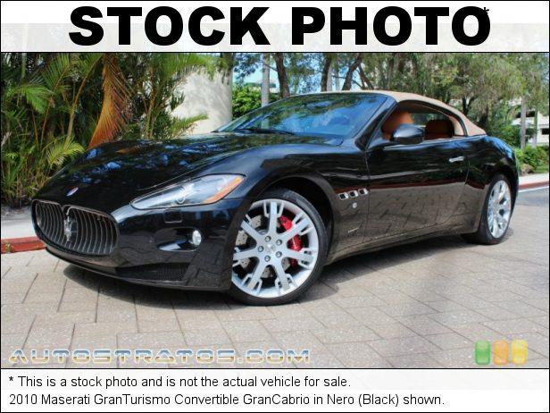 Stock photo for this 2010 Maserati GranTurismo Convertible GranCabrio 4.7 Liter DOHC 32-Valve VVT V8 6 Speed ZF Paddle-Shift Automatic