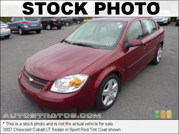 Stock photo for this 2007 Chevrolet Cobalt LT Sedan 2.2L DOHC 16V Ecotec 4 Cylinder 4 Speed Automatic