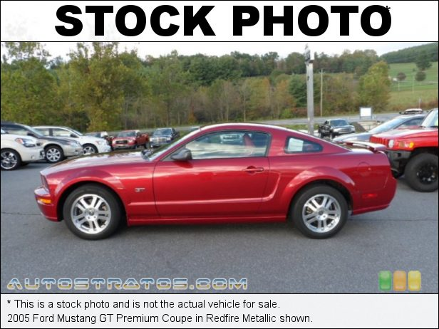 Stock photo for this 2005 Ford Mustang GT Premium Coupe 4.6 Liter SOHC 24-Valve VVT V8 5 Speed Manual