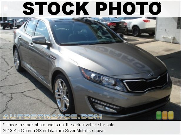 Stock photo for this 2013 Kia Optima SX 2.0 Liter GDI Turbocharged DOHC 16-Valve 4 Cylinder 6 Speed Sportmatic Automatic
