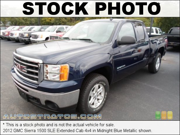 Stock photo for this 2012 GMC Sierra 1500 SLE Extended Cab 4x4 5.3 Liter Flex-Fuel OHV 16-Valve VVT Vortec V8 6 Speed Automatic