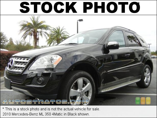 Stock photo for this 2010 Mercedes-Benz ML 350 4Matic 3.5 Liter DOHC 24-Valve VVT V6 7 Speed Touch Shift Automatic