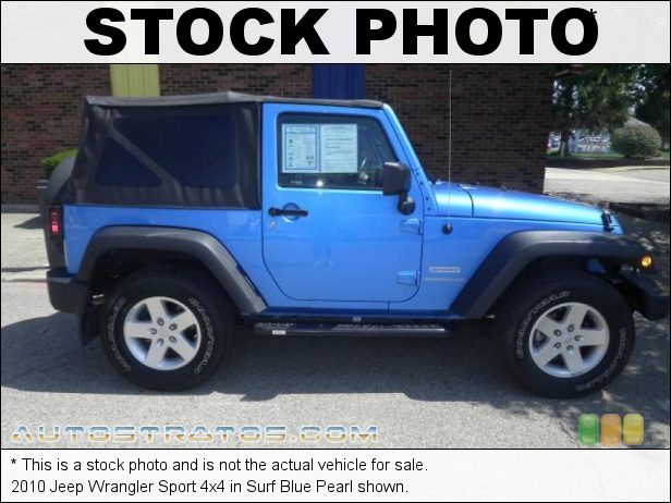 Stock photo for this 2010 Jeep Wrangler Sport 4x4 3.8 Liter OHV 12-Valve V6 4 Speed Automatic