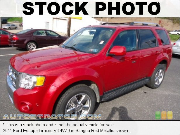 Stock photo for this 2011 Ford Escape Limited V6 4WD 3.0 Liter DOHC 24-Valve Duratec Flex-Fuel V6 6 Speed Automatic