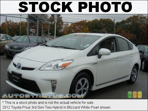 Stock photo for this 2012 Toyota Prius 3rd Gen Hybrid 1.8 Liter DOHC 16-Valve VVT-i 4 Cylinder Gasoline/Electric Hybri ECVT Automatic