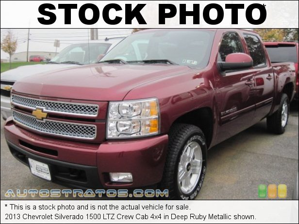 Stock photo for this 2013 Chevrolet Silverado 1500 LTZ Crew Cab 4x4 5.3 Liter OHV 16-Valve VVT Flex-Fuel Vortec V8 6 Speed Automatic
