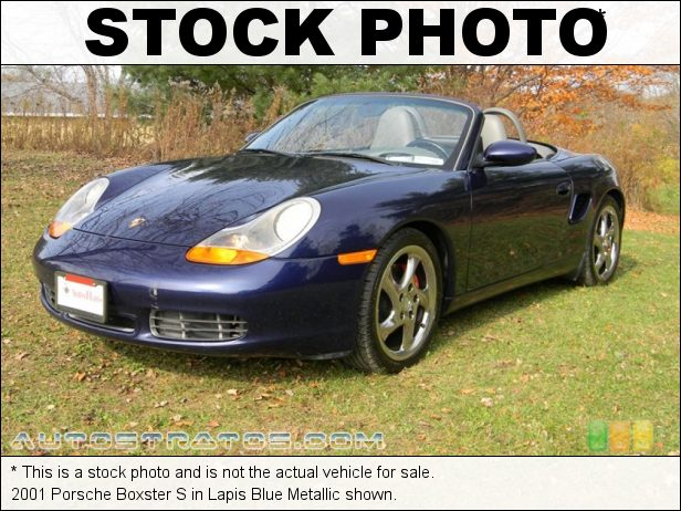 Stock photo for this 2001 Porsche Boxster S 3.2 Liter DOHC 24V Flat 6 Cylinder 6 Speed Manual