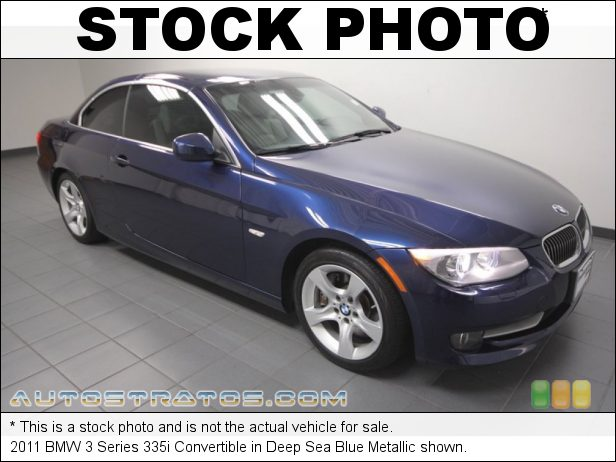 Stock photo for this 2011 BMW 3 Series 335i Convertible 3.0 Liter DI TwinPower Turbocharged DOHC 24-Valve VVT Inline 6 C 6 Speed Steptronic Automatic