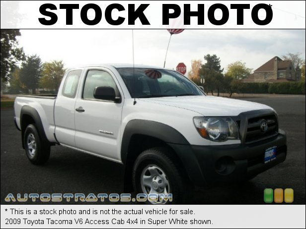 Stock photo for this 2009 Toyota Tacoma V6 Access Cab 4x4 4.0 Liter DOHC 24-Valve VVT-i V6 5 Speed ECT-i Automatic