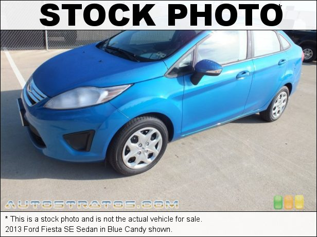 Stock photo for this 2013 Ford Fiesta SE Sedan 1.6 Liter DOHC 16-Valve Ti-VCT Duratec 4 Cylinder 6 Speed PowerShift Automatic