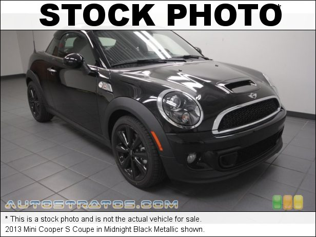 Stock photo for this 2013 Mini Cooper S Coupe 1.6 Liter DI Twin-Scroll Turbocharged DOHC 16-Valve VVT 4 Cylind 6 Speed Steptronic Automatic