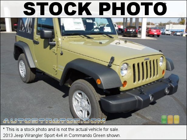 Stock photo for this 2013 Jeep Wrangler Sport 4x4 3.6 Liter DOHC 24-Valve VVT Pentastar V6 6 Speed Manual
