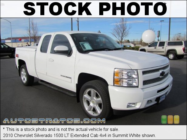 Stock photo for this 2010 Chevrolet Silverado 1500 LT Extended Cab 4x4 5.3 Liter Flex-Fuel OHV 16-Valve Vortec V8 6 Speed Automatic