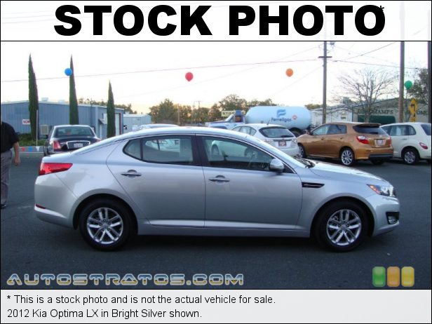 Stock photo for this 2012 Kia Optima LX 2.4 Liter GDi DOHC 16-Valve VVT 4 Cylinder 6 Speed Sportmatic Automatic