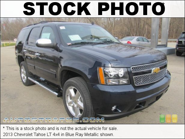 Stock photo for this 2013 Chevrolet Tahoe LT 4x4 5.3 Liter OHV 16-Valve Flex-Fuel V8 6 Speed Automatic