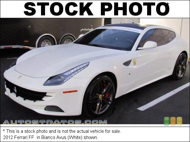 Stock photo for this 2012 Ferrari FF  6.3 Liter GDI DOHC 48-Valve VVT V12 7 Speed F1 Dual-Clutch Automatic