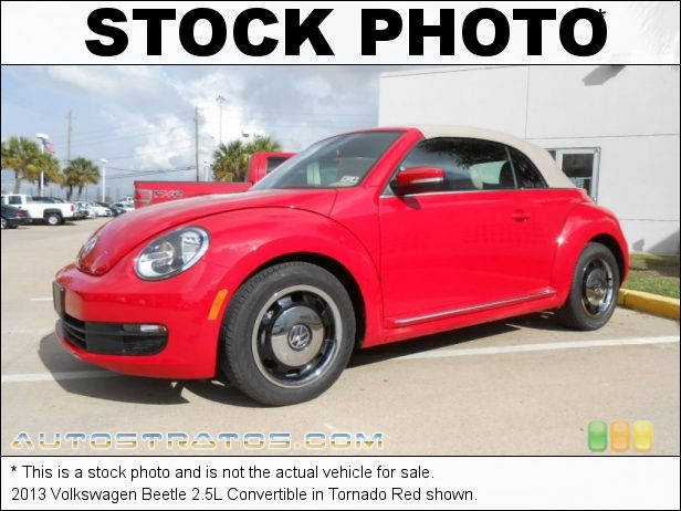 Stock photo for this 2014 Volkswagen Beetle 2.5L Convertible 2.5 Liter DOHC 20-Valve VVT 5 Cylinder 6 Speed Tiptronic Automatic