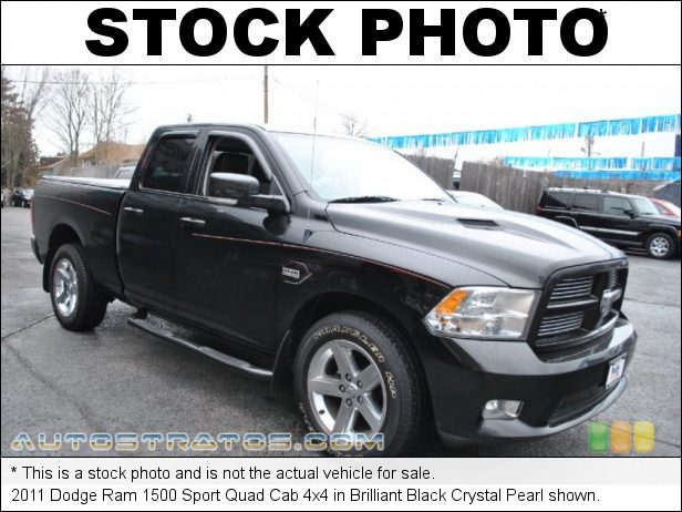 Stock photo for this 2011 Dodge Ram 1500 Quad Cab 4x4 5.7 Liter HEMI OHV 16-Valve VVT MDS V8 5 Speed Automatic