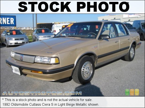 Stock photo for this 1992 Oldsmobile Cutlass Ciera S 3.3 L V6 Automatic