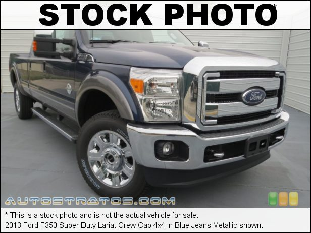 Stock photo for this 2013 Ford F350 Super Duty Lariat Crew Cab 4x4 6.7 Liter OHV 32-Valve B20 Power Stroke Turbo-Diesel V8 TorqShift 6 Speed SelectShift Automatic