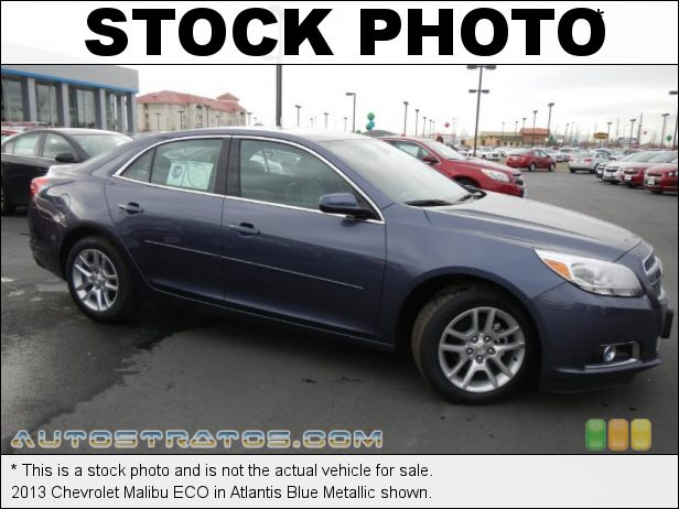 Stock photo for this 2013 Chevrolet Malibu ECO 2.4 Liter ECO DI DOHC 16-Valve VVT 4 Cylinder Gasoline/eAssist H 6 Speed Automatic