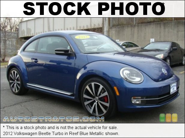 Stock photo for this 2012 Volkswagen Beetle Turbo 2.0 Liter Turbocharged FSI DOHC 16-Valve 4 Cylinder 6 Speed Manual
