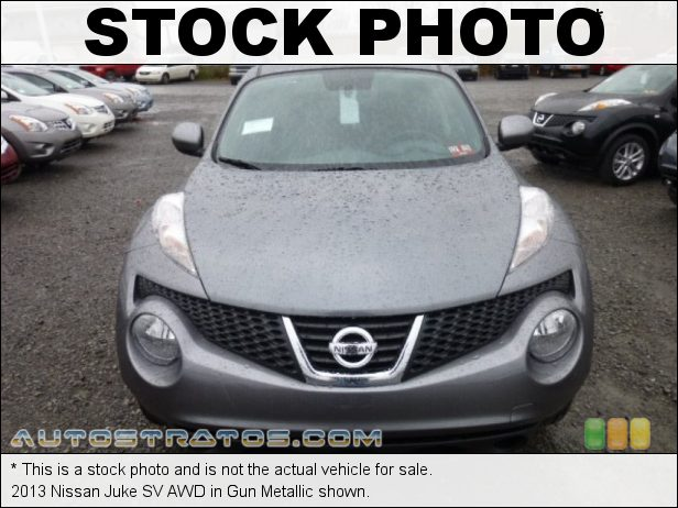 Stock photo for this 2013 Nissan Juke SV AWD 1.6 Liter DIG Turbocharged DOHC 16-Valve CVTCS 4 Cylinder Xtronic CVT Automatic