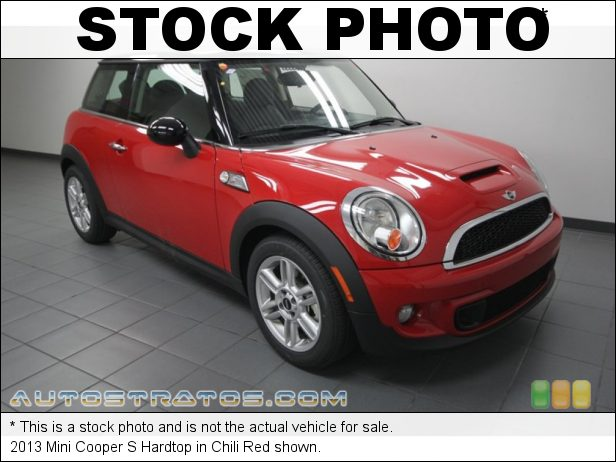 Stock photo for this 2013 Mini Cooper S Hardtop 1.6 Liter DI Twin-Scroll Turbocharged DOHC 16-Valve VVT 4 Cylind 6 Speed Steptronic Automatic