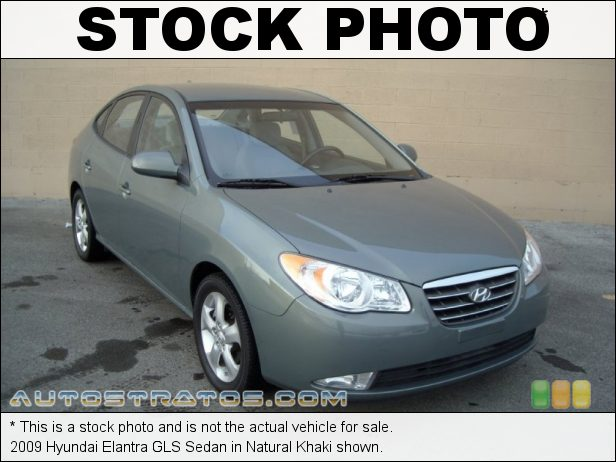 Stock photo for this 2009 Hyundai Elantra GLS Sedan 2.0 Liter DOHC 16-Valve CVVT 4 Cylinder 4 Speed Automatic