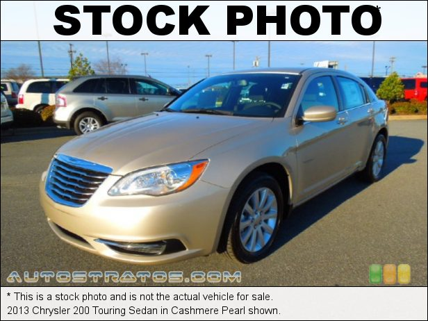 Stock photo for this 2013 Chrysler 200 Touring Sedan 2.4 Liter DOHC 16-Valve Dual VVT 4 Cylinder 6 Speed AutoStick Automatic