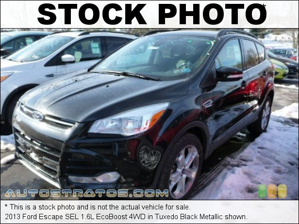 Stock photo for this 2013 Ford Escape SEL 1.6L EcoBoost 4WD 1.6 Liter DI Turbocharged DOHC 16-Valve Ti-VCT EcoBoost 4 Cylind 6 Speed SelectShift Automatic