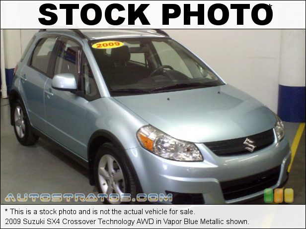 Stock photo for this 2009 Suzuki SX4 Crossover AWD 2.0 Liter DOHC 16-Valve 4 Cylinder 4 Speed Automatic