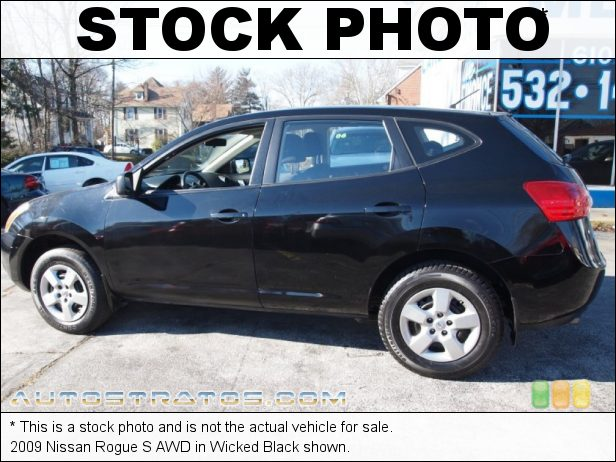 Stock photo for this 2009 Nissan Rogue S AWD 2.5 Liter DOHC 16-Valve CVTCS 4 Cylinder Xtronic CVT Automatic