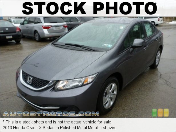 Stock photo for this 2013 Honda Civic LX Sedan 1.8 Liter SOHC 16-Valve i-VTEC 4 Cylinder 5 Speed Automatic