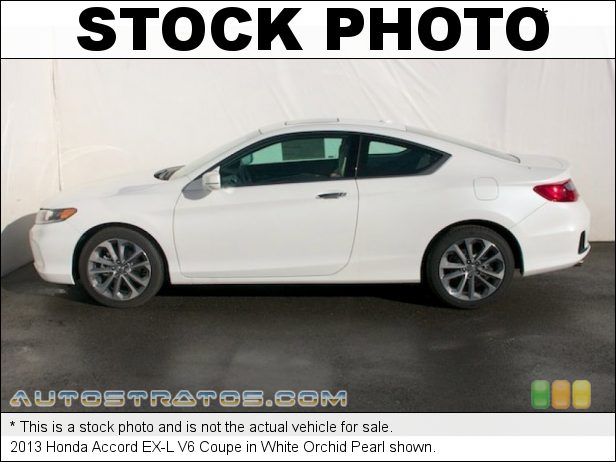 Stock photo for this 2013 Honda Accord EX-L V6 Coupe 3.5 Liter Earth Dreams SOHC 24-Valve i-VTEC VCM V6 6 Speed Automatic